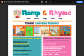 Romp & Rhyme Storytime Parent Activity Sheet: Awesome Autumn