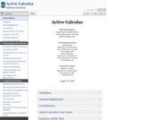 Active Calculus