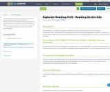 Alphabet Reading Drill - Reading Arabic Ads