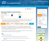Balancing Algebraic Understanding