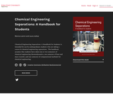 Chemical Engineering Separations: A Handbook for Students