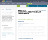 EFFECTIVE COMMUNICATION USING PAST TENSE  - Rem