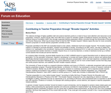 """Contributing to Teacher Preparation through """"Broader Impacts"""" Activities"""