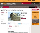 Special Problems in Architectural Design, Spring 2005