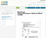 Significant Figures Worksheet - Barbara Gilbert at CNM