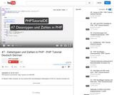#7 - Datentypen und Zahlen in PHP - PHP Tutorial Deutsch German