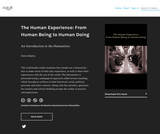 The Human Experience: From Human Being to Human Doing