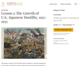 Lesson 1: The Growth of U.S.-Japanese Hostility, 1915-1932