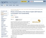 Phase 2 Evaluation of the African Health OER Network: Consolidation and Sustainability