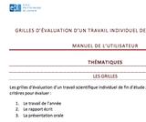 OER-UCLouvain: Grilles d'évaluation d'un travail de fin d'études/fin de cycle en sciences de l'ingénieur