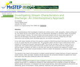 Investigating Stream Characteristics and Discharge:  An Interdisciplinary Approach