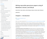 Writing reproducible geoscience papers using R Markdown, Docker, and GitLab
