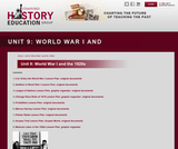 Reading Like a Historian, Unit 9: World War I and the 1920s