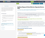Un Buen Repaso/A Good Review- Spanish, Novice Mid
