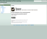 PLA-100: Introduction to Prior Learning Assessment