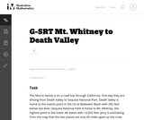 Mt. Whitney to Death Valley