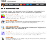 Be a Mathematician! (Stage 1)