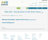 ENG 243 - Introduction to the Short Story