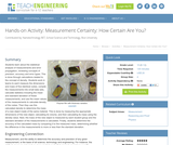 Measurement Certainty: How Certain Are You?