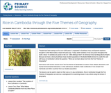 Rice in Cambodia through the Five Themes of Geography