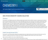 UNC System Chemistry 1 Digital Course