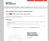 Overview – Open Policy Video – Open Washington: Open Educational Resources Network