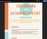 Customizing and Authoring OER