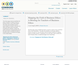Mapping the Field of Business Ethics: A Briefing for Teachers of Business Ethics