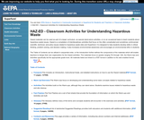 HAZ-ED - Classroom Activities for Understanding Hazardous Waste