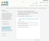Common Core Reading Grade 5 Explaining Relationships in Scientific and Technical Texts