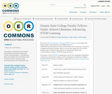Granite State College Faculty Fellows Guide: School Librarians Advancing STEM Learning