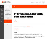 F-TF Calculations with sine and cosine