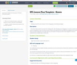 EFL Lesson Plan Template - Remix