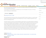 Cross-National Commonalities and Differences in the Intended Curriculum in Primary School Reading and Mathematics
