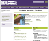 Exploring Materials - Thin Films