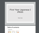 First Year Japanese I - JPN101