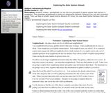 Exploring the Solar System Dataset
