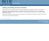 Adding and Editing Content in Moodle
