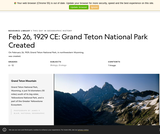 Grand Teton National Park Created