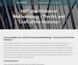 Historical Methodology: The Art and Craft of the Historian