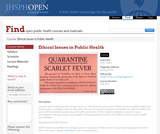 Ethical Issues in Public Health