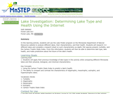 Lake Investigation: Determining Lake Type and Health Using the Internet
