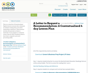 request a recommendation letter