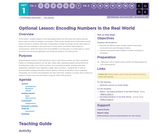 CS Principles 2019-2020 1.6.16: Encoding Numbers in the Real World