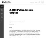 A-REI Pythagorean Triples