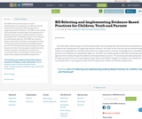 B15 Selecting and Implementing Evidence-Based Practices for Children; Youth and Parents