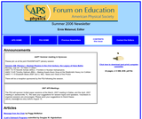 APS Forum on Education Summer 2006 Newsletter