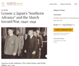 "Lesson 3: Japan's ""Southern Advance"" and the March toward War, 1940-1941"