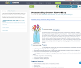 Dramatic Play Center- Flower Shop