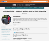 Bridge Building Concepts and Design: Truss Bridges 1 of 4